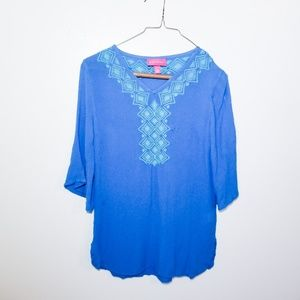 Lily Pulitzer for Target XS  Embroidered Blouse